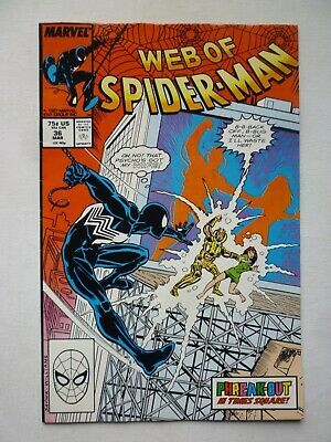 Web Of Spider-Man 36 First Appearance Of Tombstone Marvel Comics 1987