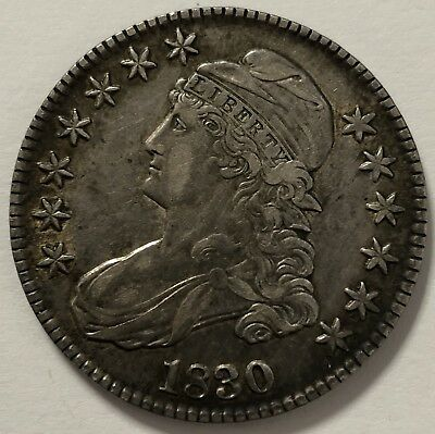 1830 Philadelphia Mint Silver Capped Bust Half Dollar - Better High Grade