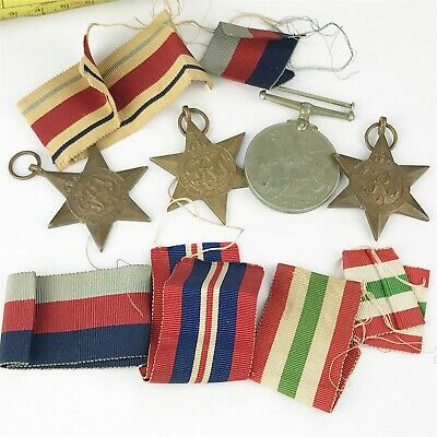 Genuine Full Size Ww2 Wwii Military Medals Awards And Ribbons Lot Collection