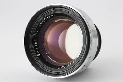 【Excellent+++++】Contax RF Carl Zeiss 50mm f2 Sonnar From Japan 256