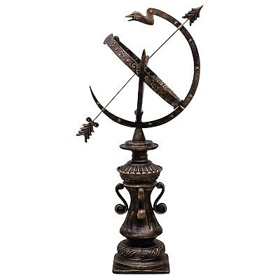 Sundial cast iron garden decoration nostalgic antique style 100cm
