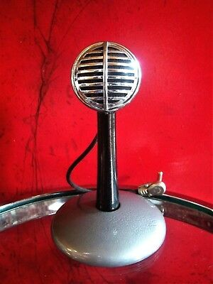 Vintage RARE 1930's Astatic Model 30 Crystal harp microphone old biscuit w stand