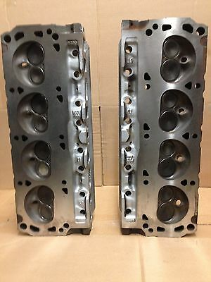 """302 Ford Gt40 3 Bar  Pair Of Cylinder Heads # F3Ze With 7/16"""" Head Bolt Holes"""