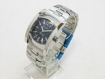 buy popular 9e4b8 d4d2c BVLGARI ASSIOMA STAINLESS Steel Silver Automatic AA48C14SSD Watch Used W/Box