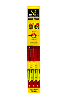 """NIB TenPoint Crossbow 20/"""" Lighted Omni-Brite 2.0  Arrows 3 Pack #2219 Red//White"""
