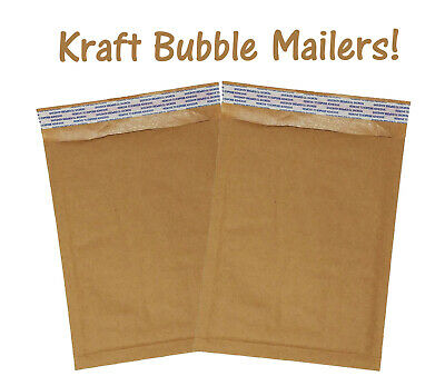 "6x10"" Brown Kraft Bubble Mailers Recyclable Padded Shipping Mailing Envelopes!"