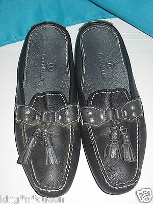 847706e0a52 COLE HAAN NIKE Air Black Leather Mules Slides Shoes Shoe Size 7.5 AA ...
