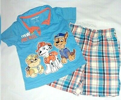Nickelodeon Paw Patrol 18 Months 2 Price Outfit Polo Shirt Plaid Shorts