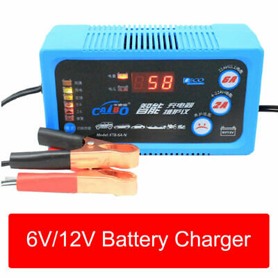 6V/12V 2A 6A Smart Battery Trickle Charger For Automatic Caravan Motorcycle UK