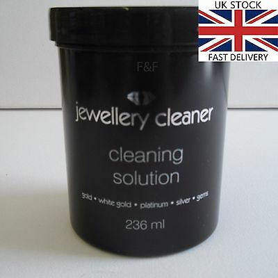 Jewellery Cleaner Cleaning Solution for Gold, White Gold Silver,Platinum BLACK