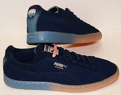 quality design 84334 de3f7 PUMA X PINK Dolphin Suede Classic PD Dress Blue Coral Pink Sneakers BRAND  NEW