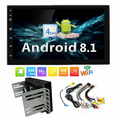 "7"" Android 8.1 Car Radio Stereo GPS Quad Core WIFI 2DIN MP5 FM BT Player NO DVD"