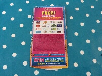 Kelloggs Adults Free Entry Alton Towers Thorpe Park Legoland London Eye 2 For 1