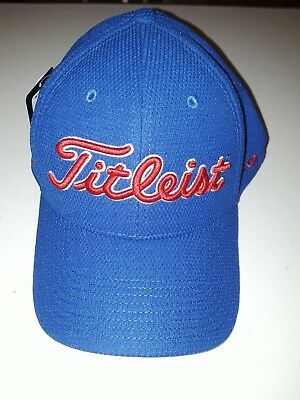 NEW 2018 Tour Issue Titleist Tour Sports Mesh Hat FJ ProV1 Fitted M/L Navy Blue