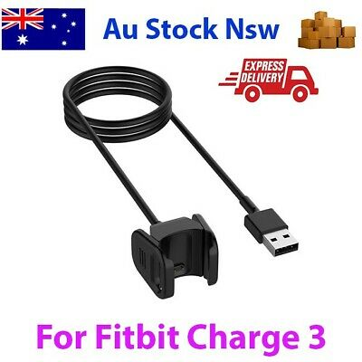 For Fitbit Charge 3 Replacement USB Charging Cables (AU Stock Charger)