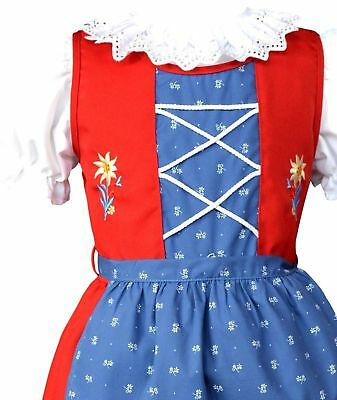 9-12m,1 Year,Baby,Girls,Kids,Blue,Germany,Trachten,Oktoberfest,Dirndl Dress,3-pc