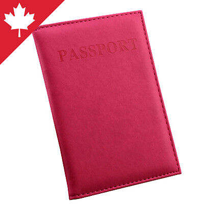 Passport Holder Soft Case Cover Travel Safe Bright Loss Prevention Color Red NEW