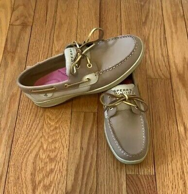 65e0cc1ab4f SPERRY TOP SIDER Womens Bluefish Boat Shoes Sz 8.5 M Tan Gold