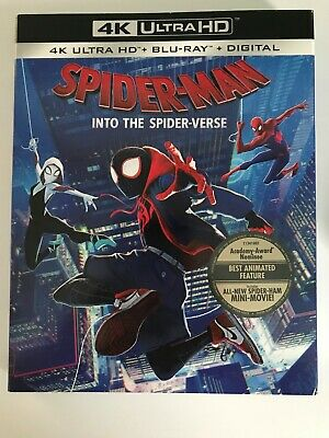 Spider Man Into The Spider-Verse *4K Blu Ray Slipcover Only*