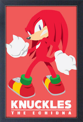SONIC MODERN CHARACTER KNUCKLES 13x19 FRAMED GELCOAT POSTER VIDEO GAMES SEGA NEW