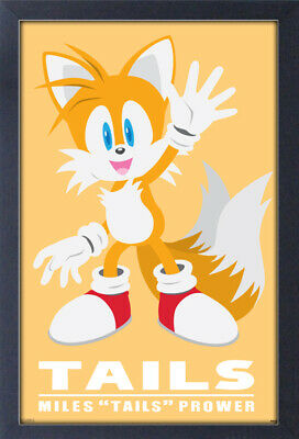 SONIC MODERN CHARACTER TAILS 13x19 FRAMED GELCOAT POSTER VIDEO GAMES SEGA NEW!!!