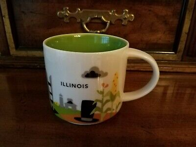 "Starbucks / ILLINOIS / ""YOU ARE HERE"" Collection / RETIRED / City Mug - EUC"