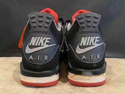 outlet store a2ad2 62185 Air Jordan Bred 4 Iv 1999 Retro New Size 10 Black Cement 136013 001 Nike  Michael