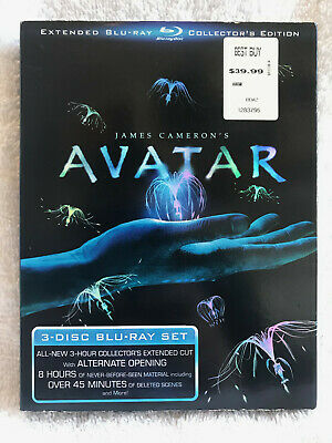 Avatar (Blu-ray Disc, 2010, 3-Disc Set, Extended Collectors Edition BRAND NEW NR