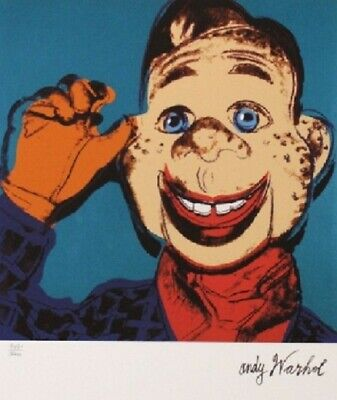Andy Warhol Howdy Doody Signed +  Hand Numbered 2716/5000 Matted Lithograph