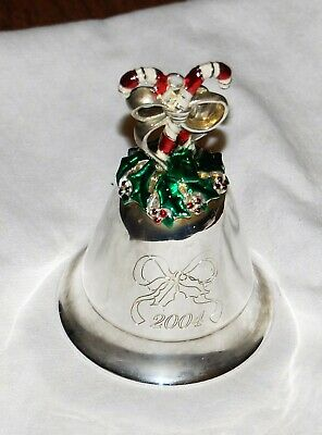 LENOX  2013 SILVER PLATED 37TH ANNUAL MUSICAL JOLLY OLD ST NICHOLAS METAL BELL
