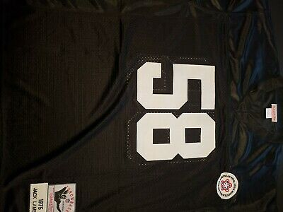 6eb33a3988d Mitchell   Ness Jack Lambert  58 Pittsburgh Steelers 1975 Throwback Jersey  Sz 52