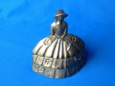 Vintage Or Antique Lady In Period Dress Brass Service Bell