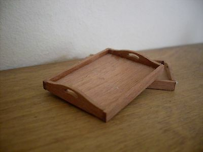 Dollshouse Miniature Mahogany ~  TRAYS KIT ~