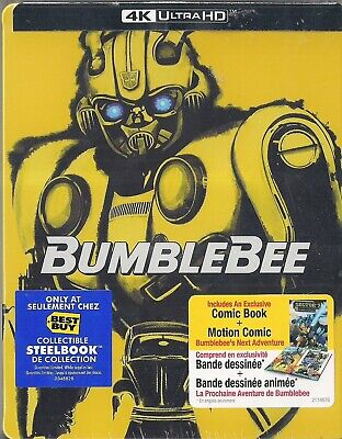 Bumblebee  (SteelBook) 4K Ultra HD + Blu-Ray + Digital Code NEW