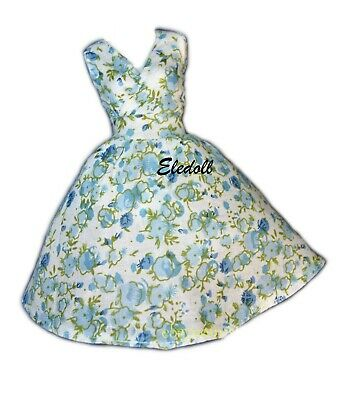 Barbie Doll Dress Classic Floral Dress for Belly Button Barbie Doll
