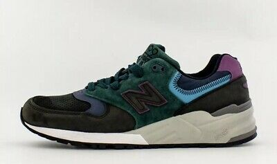 """14534f3988252 NEW BALANCE MEN'S 999 M999JTB (Made In USA) """"Suede"""" Black/Green/Teal ..."""