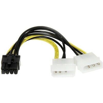 Startech.com Lp4Pciex8Adp 6In Lp4 To 8 Pin Pci Express Video Card Power Cable...