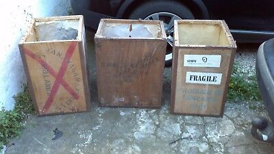 One Vintage Large Tea Chest/Box Price each Vintage Retro ideal for up-cycling