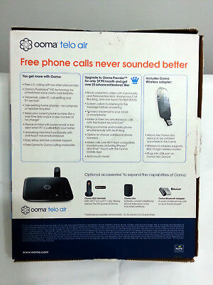 OOMA TELO AIR FREE HOME PHONE SERVICE VoIP DEVICE WITH WIRELESS ADAPTER  QUICK SH