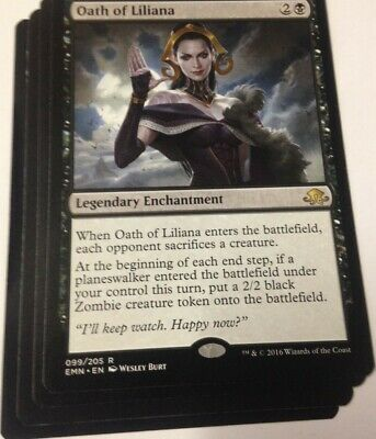 FOIL MTG Oath of Liliana Eldritch Moon EMN 099//205 Japanese NM