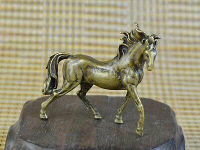 Vintage decorate China Old Copper Statue sculpture figure Of Horse Art