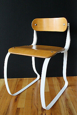 "Art Deco Ironite ""Health"" Chair 30's Early Laminated Wood&Steel Herman Sperlich"