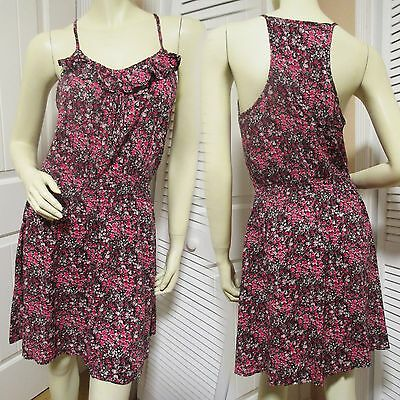 MOSSIMO Womens Sleeveless Sheath Dress M Floral Print Multicolor Pink Sundress