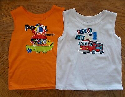 Garanimals Boys Orange And White Tank Tops Lot Of 2 Size 24 months