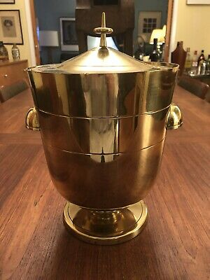 Tommi Parzinger for Dorlyn Mid Century Brass Ice Bucket