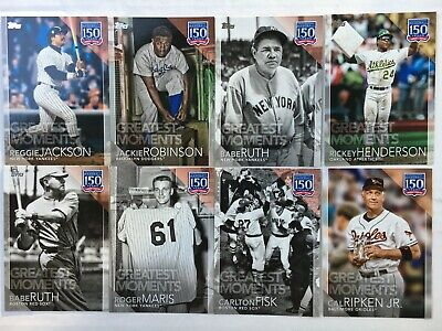 2019 Topps Series 1 150 Years Baseball Insert Singles U-PICK Complete Your Set