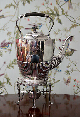 Fine Antique c19th Spirit Kettle, Silver Plate, MAPPIN & WEBB
