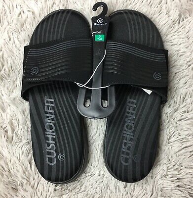 632d99df9dee2 Champion C9 Mens Sz Small 7 8 Jack Athletic Slides Sandals Black Flex Foam  New