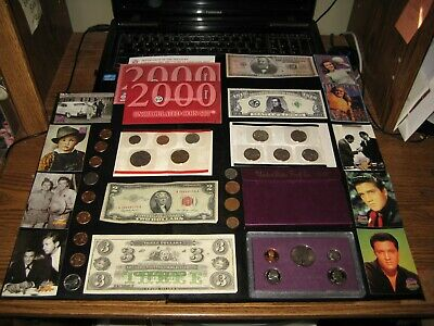 BIG Coin Lot PROOF SET TWO Dollar red seal Mint Set Elvis COINS  NO JUNK DRAWER