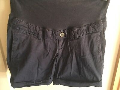 Ladies Size 8 H&M Navy Maternity Shorts